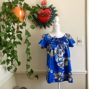 1970s Vintage Hawaiian BabyDoll Top